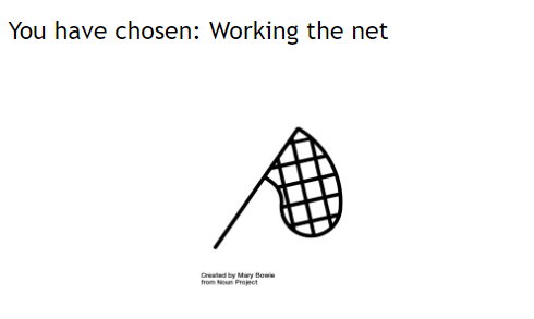 You have chosen: Working the net